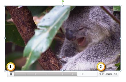 PowerPoint 2010: Sprungmarken in Videos hinzufügen, Schritt 1+2