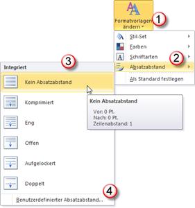 Word 2010 Zeilen- und Absatzabstand leicht ändern