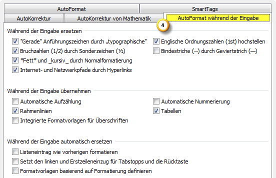 AutoKorrektur-Einstellungen in Outlook 2010 optimieren Teil 3