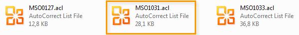 ACL-Datei von Office 2007 nach 2010 übertragen