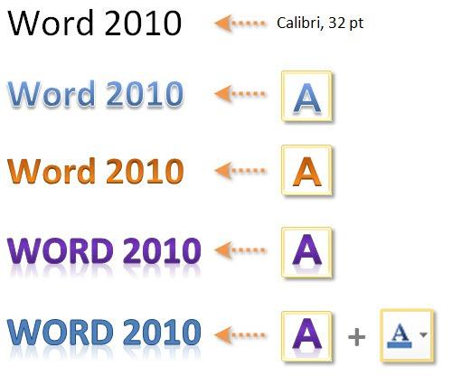 Word 2010: Texteffekt-Beispiele 1
