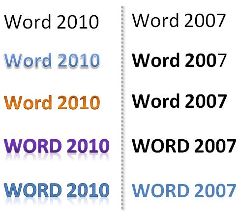 Word 2010 - 2007: Texteffekte gehen verloren