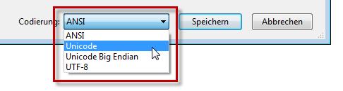 Word 2010: Unicode statt ANSI für Benutzerwörterbücher
