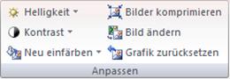 Office 2007: Die Befehlsgruppe Anpassen