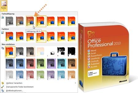 PowerPoint 2010: Grauschleier durch Reduzieren der Farbsättigung auf 66%