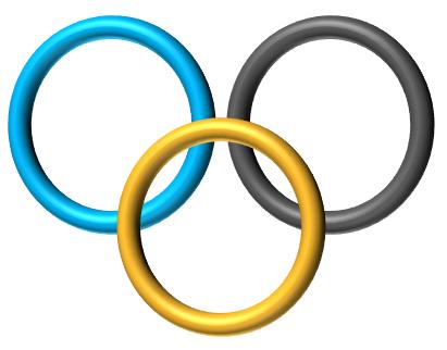 Verschlungene ringe symbol word