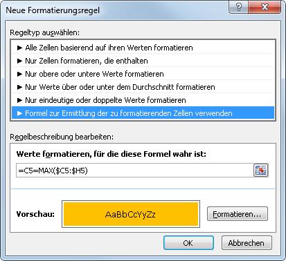 Excel 2010: Fertige Einstellungen für die Bedingte Formatierung