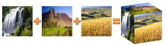 PowerPoint 2010: Die drei Seiten für den Bildwürfel
