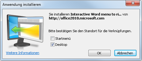 Interaktive Befehlsreferenz auf dem Desktop installieren