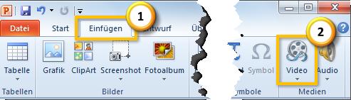 Einfügen des GIF als Video