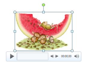 Das eingefügte GIF mit Videosteuerelementen