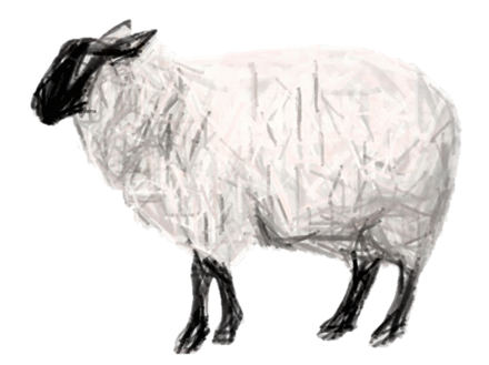 Schaf mit Effekt Bleistift