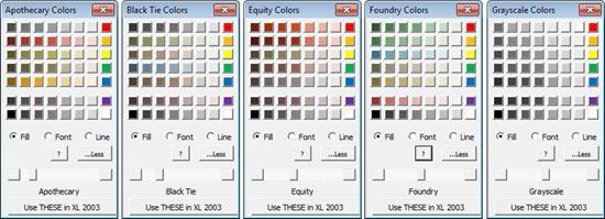 Add-In Designauswahl