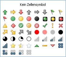 Excel 2010: 52 Symbole stehen zur Auswahl