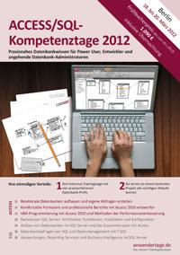 Flyer der ACCESS/SQL-Kompetenztage 2012
