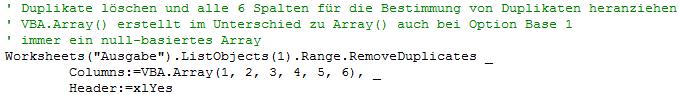VBA.Array() anstatt Array() verwenden