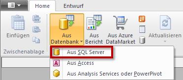 Die PowerPivot-Befehle zum Abrufen externer Daten