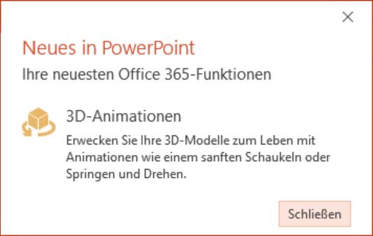 Update-Info zu den neuen 3D-Animationen