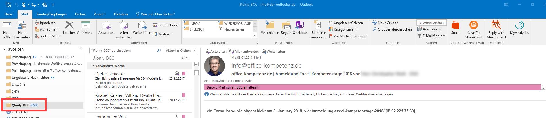 Fazit: Massenhaft E-Mails mit nur Bcc