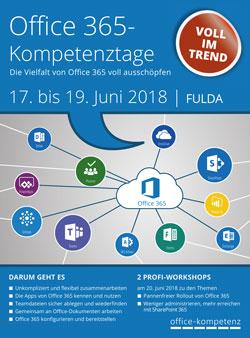 Office 365-Kompetenztage 2018 - Faltblatt-Titel