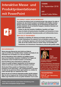 Workshop Interaktive Messe- und Produktpraesentationen mit PowerPoint