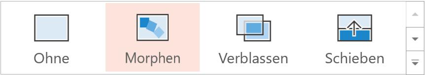 Der Effekt Morphen auf der Registerkarte Übergänge