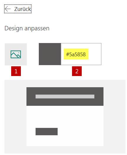 Logo und Hintergrundfarbe benutzerdefiniert anpassen