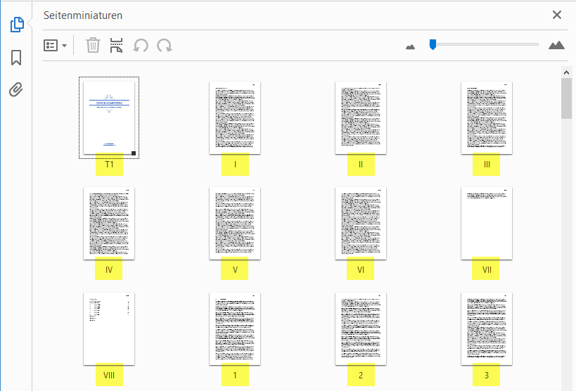 So erscheinen die formatierten Seitenzahlen in Adobe Acrobat (Reader)