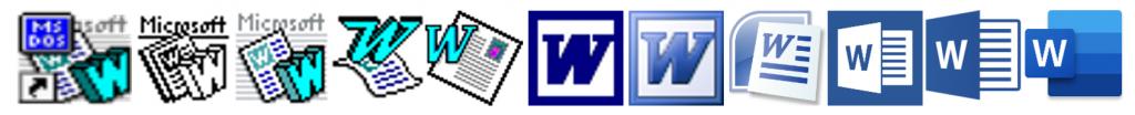 So haben sich die Word-Icons im Laufe der Zeit verändert.