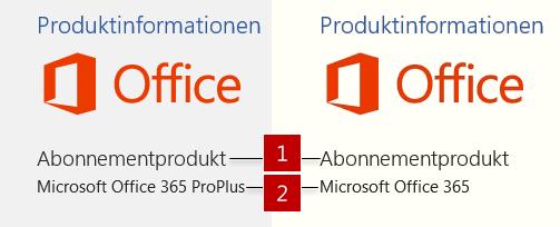 Hier sind die Office-365-Versionsangaben zu finden