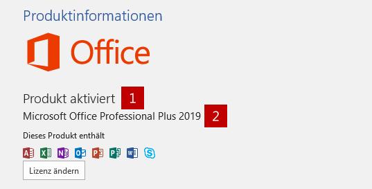So ist Office 2019 zu erkennen