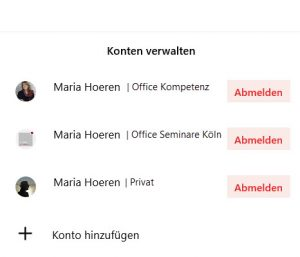 Screenshot von To-Do: diverse Konten