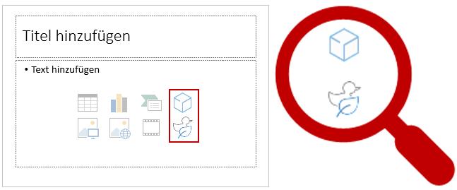 Das sind die beiden neuen Symbole für Inhaltsplatzhalter