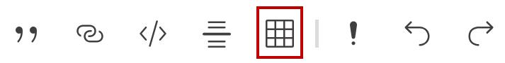 Symbol zum Einfügen einer Tabelle