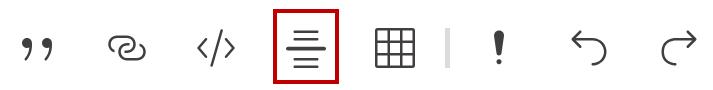 Symbol zum Einfügen einer Trennlinie