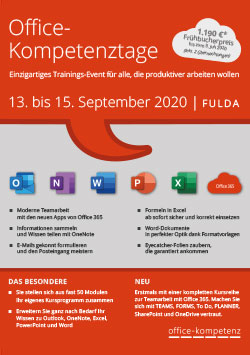 Office-Kompetenztage 2019 Flyer herunterladen