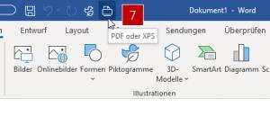 Ab sofort genügt ein Klick zum Speicher im PDF-Format.