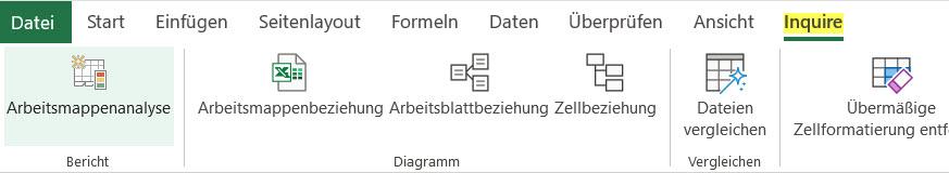 Ausblick auf Excel-Inquire