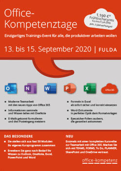 Office-Kompetenztage 2020 in Fulda
