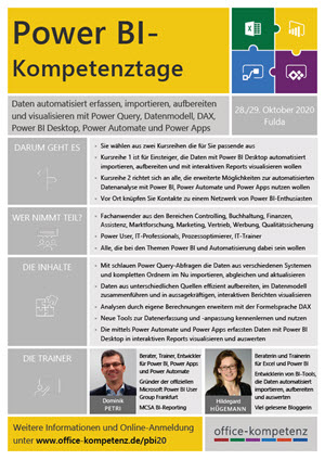 Flyer der Power BI-Kompetenztage