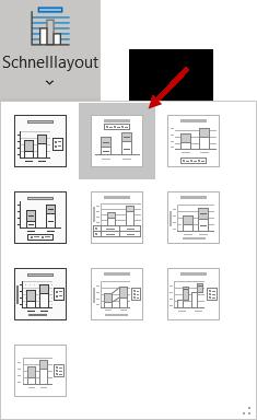 Mit dem Schnelllayout 2 das Diagramm in Form bringen