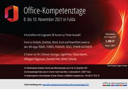 Flyer der Office-Kompetenztage 2021 herunterladen